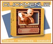 CLICKMENUE -internet-multimedia-audio- Webdesign Print Werbemittel